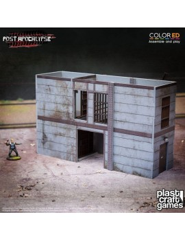 Post Apocalypse ColorED Miniature Gaming Model Kit 28 mm High-Security Cell