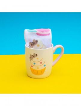 Pusheen Sock in a Mug Gold