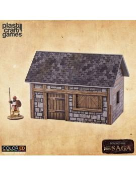 SAGA ColorED Miniature Gaming Model Kit 28 mm Medieval Dwelling