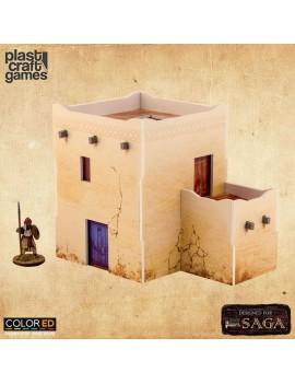 SAGA ColorED Miniature Gaming Model Kit 28 mm Two-Story Desert Dwelling