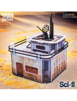 Sci-fi ColorED Miniature Gaming Model Kit 28 mm Port Comms Station