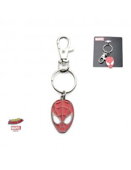 Spider-Man Metal Keychain Face