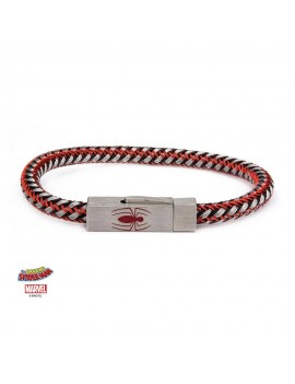 Spider-Man Stainless Steel & Woven Leather Wristband Spider