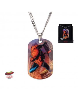 Spider-Man Stainless Steel Pendant with Chain Dog Tag