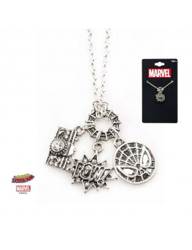 Spider-Man Stainless Steel Pendant with Chain POW!