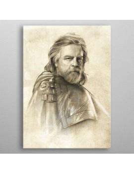Star Wars Metal Poster Last Jedi Sketches Luke Skywalker 10 x 14 cm
