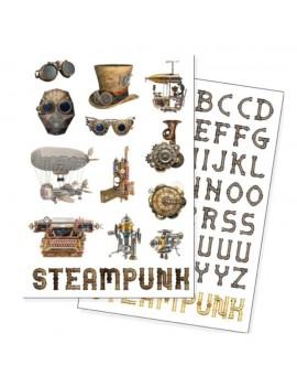 Steampunk Fridge Magnets 72-Pack