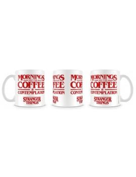 Stranger Things Mug Coffee and Contemplation