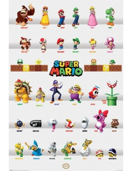 Super Mario Poster Pack Character Parade 61 x 91 cm (5)