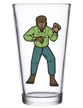Universal Monsters Pint Glass Wolf Man