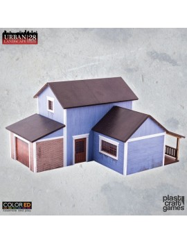 Urban Landscape ColorED Miniature Gaming Model Kit 28 mm Suburban Blue House