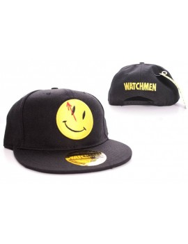 Watchmen Adjustable Cap Smiley Logo black