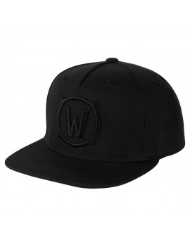 World of Warcraft Premium Snap Back Cap Blackout Logo