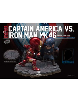 Captain America Civil War Egg Attack Statue 2-Pack Iron Man vs. Captain America 20 cm
