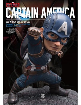 Captain America Civil War Egg Attack Statue Captain America 20 cm