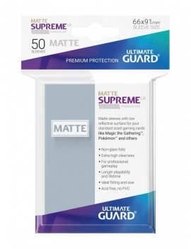 Ultimate Guard Supreme UX Sleeves Standard Size Matte Transparent (50)