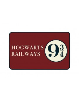 Harry Potter Carpet Hogwarts Railways 9 3/4 80 x 50 cm