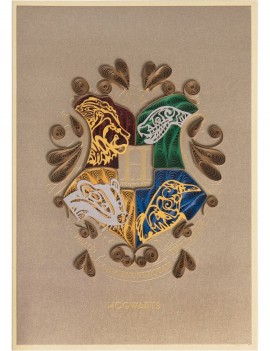 Harry Potter Quilled Greeting Card Hogwarts
