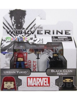 Wolverine Action Figure Minimates Urban Yukio e Black Clan Ninja