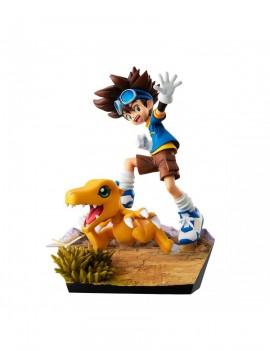 Digimon Adventure G.E.M. Series PVC Statue Taichi Yagami & Agumon 20th Anniversary 12 cm