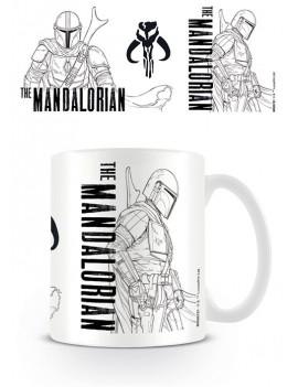 Star Wars The Mandalorian Mug Line Art