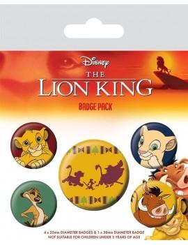 The Lion King Pin Badges 5-Pack Hakuna Matata