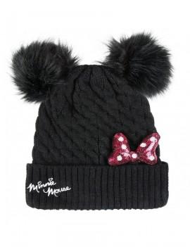Disney Beanie Pompon Minnie Pink Bow