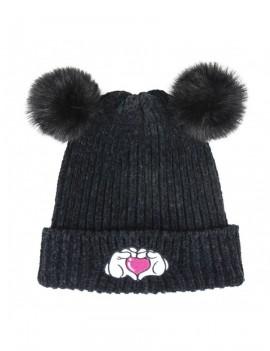 Disney Kids Beanie Pompon Minnie Heart