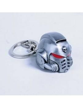 Warhammer 40K Metal Keychain Space Marine Primaris Helmet