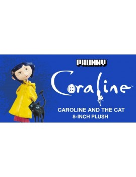 Coraline Phunny Plush Figure Coraline and the Cat 20 cm