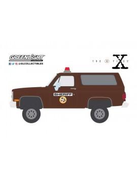 The X-Files Diecast Model 1/64 1981 Chevrolet K-5 Blazer Sheriff