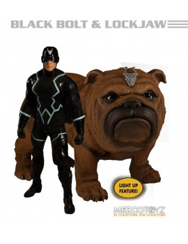 Marvel Universe Action Figures 1/12 Black Bolt & Light-Up Lockjaw 17 cm
