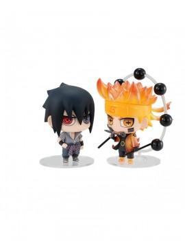 Naruto Chimimega Buddy Series Figure 2-Pack Naruto & Sasuke Set 7 cm