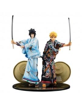 Naruto G.E.M. PVC Statue 2-Pack Naruto & Sasuke Kabuki Ver. 23 cm