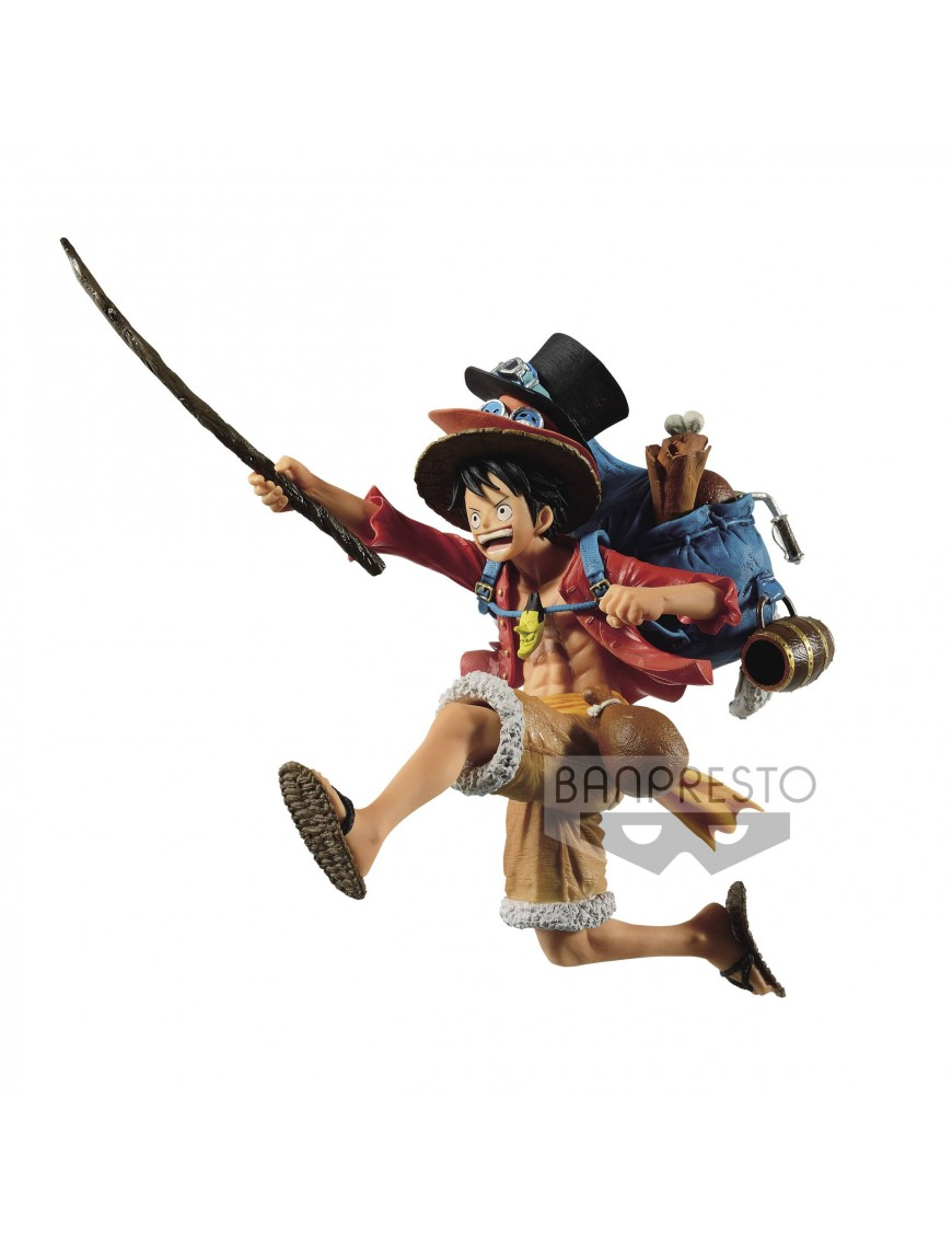 One Piece Three Brothers Pvc Statue Monkey D Luffy 11 Cm Action Figures Italia