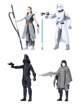 Star Wars Episode VIII Force Link Action Figure 4-Pack 2018 Battle on Crait 10 cm