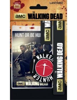 Walking Dead Lanyard with Rubber Keychain Hunt