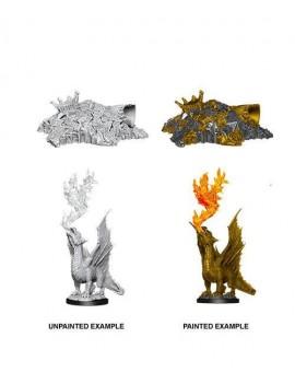 D&D Nolzur's Marvelous Miniatures Unpainted Miniatures Gold Wormling & Treasure Pile Case (6)