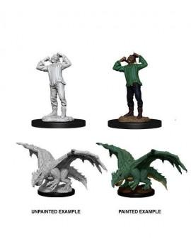 D&D Nolzur's Marvelous Miniatures Unpainted Miniatures Green Wormling & Afflicted Elf Case (6)