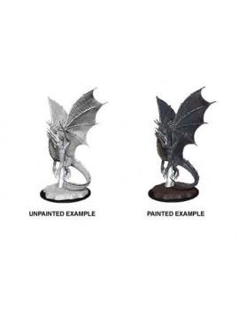D&D Nolzur's Marvelous Miniatures Unpainted Miniatures Young Silver Dragon Case (6)