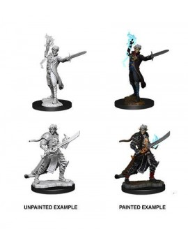 Pathfinder Battles Deep Cuts Unpainted Miniatures Male Elf Magus (Magic User) Case (6)