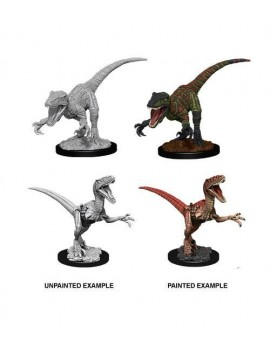 WizKids Deep Cuts Unpainted Miniature Raptors Case (6)